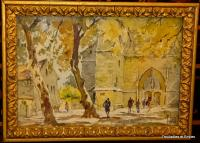 WATERCOLOR SIGNED RENE LEVERD