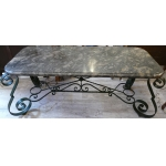 1940s Wrought Iron Table In The Style Of Merceris, Student Of Poillerat