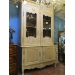 18th C PAINTED HIGH BUFFET LOUIS XV STYLE