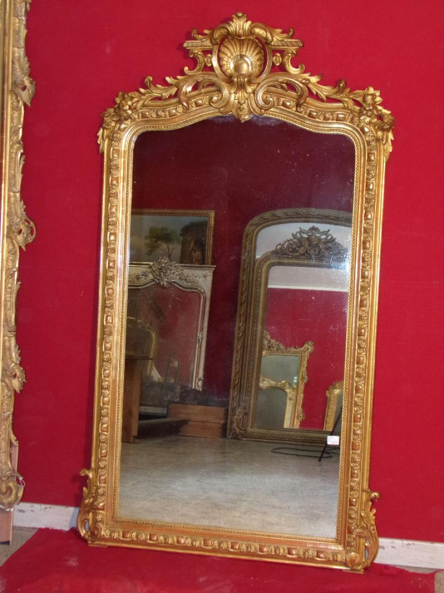 FRENCH TRANSITION PERIOD TRUMEAU MIRROR