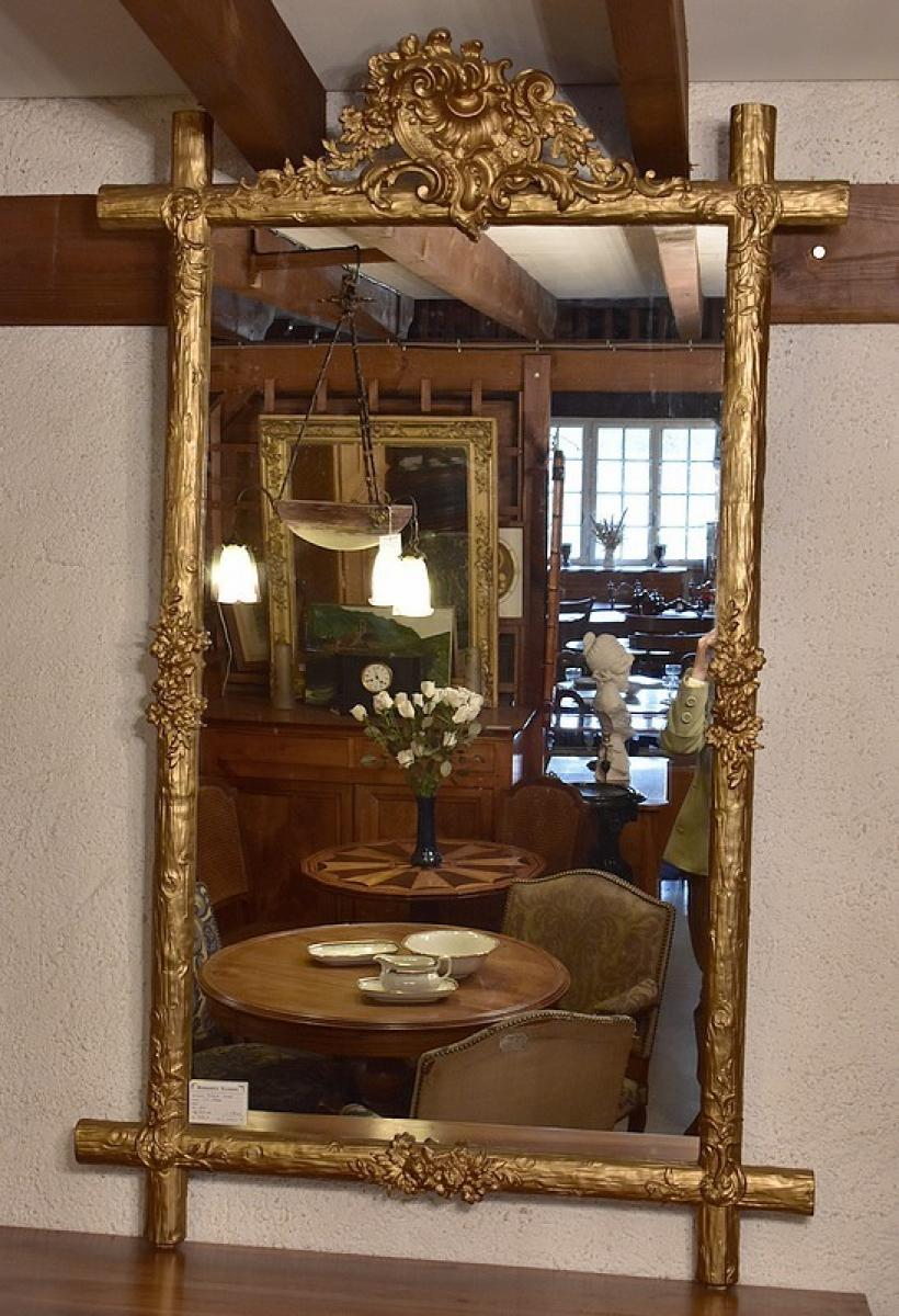 Large mirror Louis Philippe - nineteenth