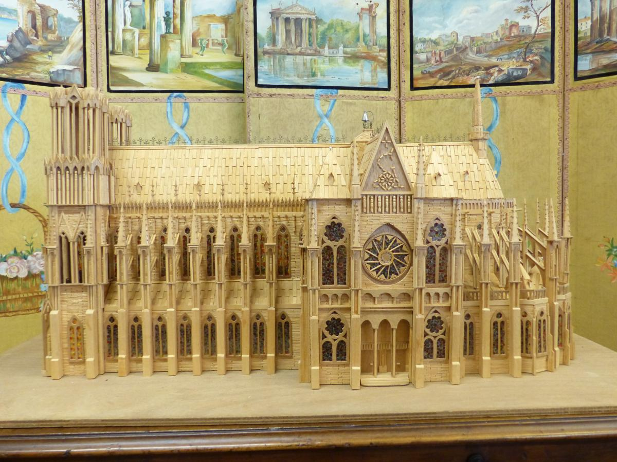 masterpiece large model gothic cathedral companion france twentieth