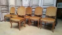 Set of 6 large Louis XV chairs
