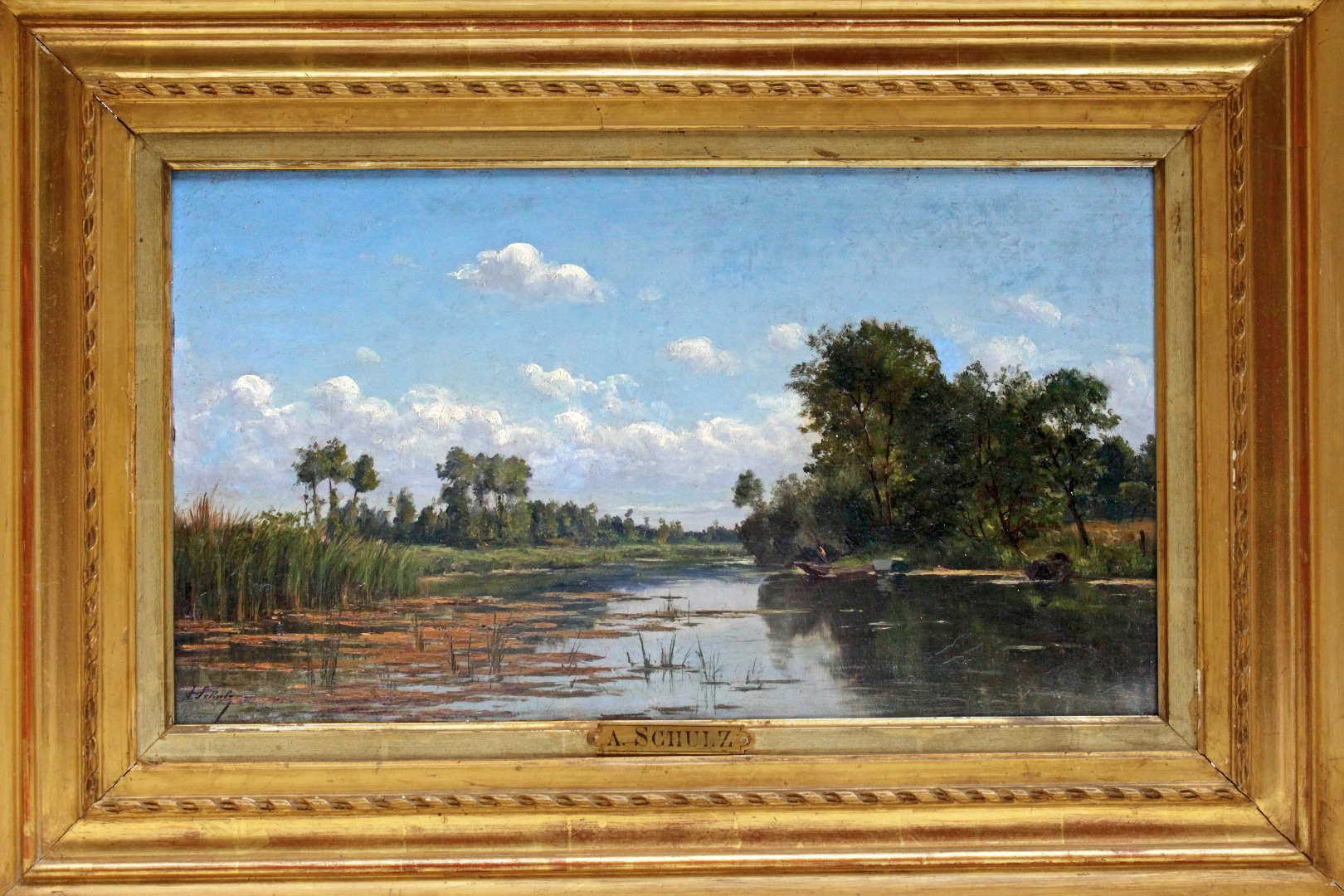 OIL ON PANEL BY Adrien Schulz (1851-1931)