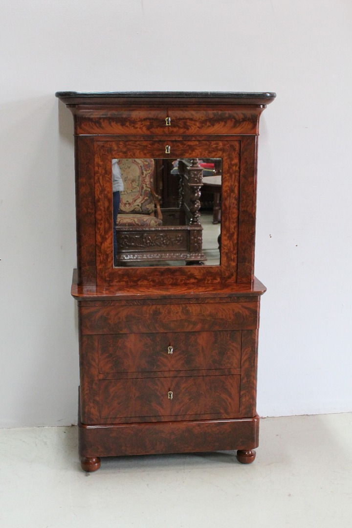 Rare Small Secretary-Convenient Restoration - Nineteenth