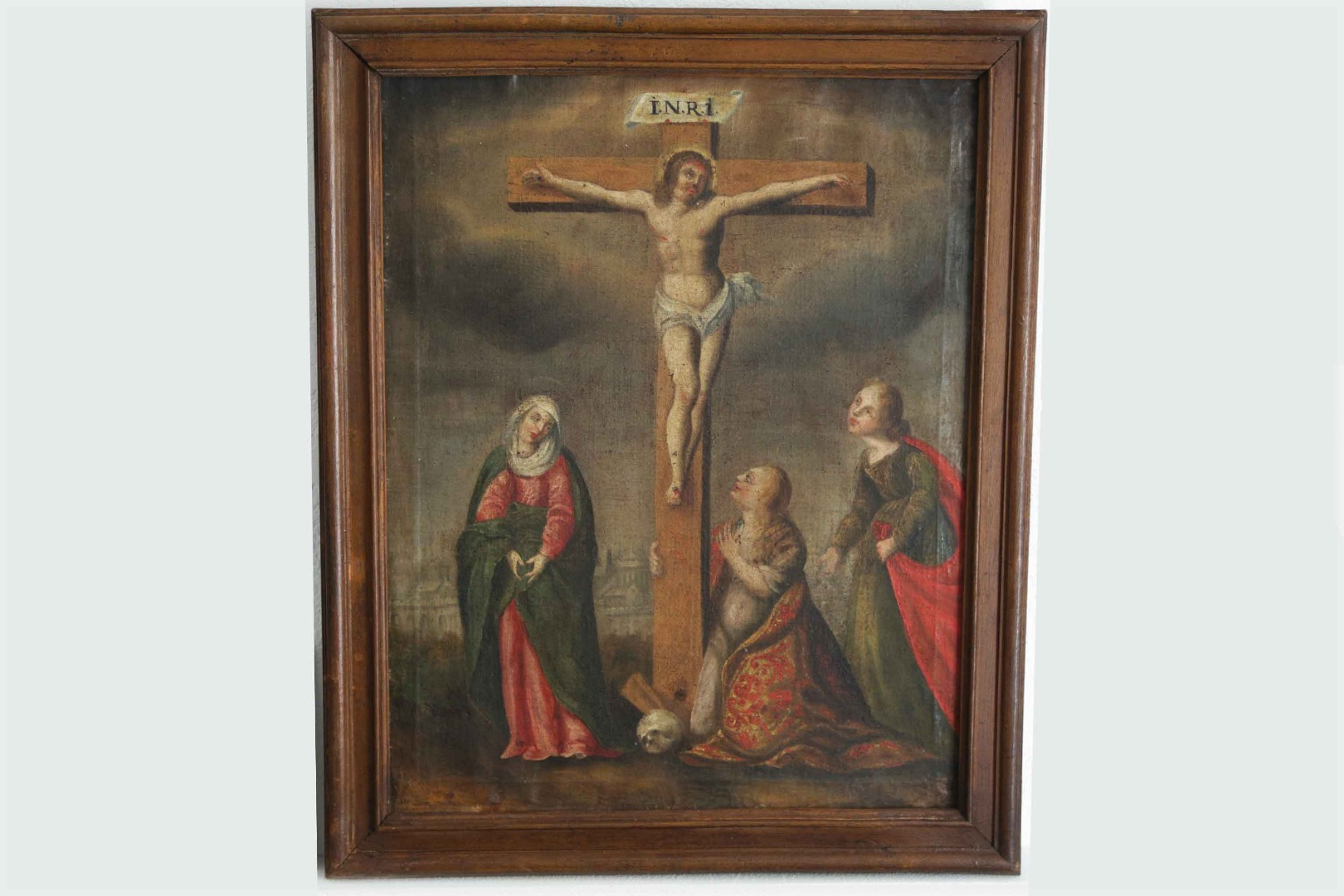 Crucifiction, Oil On Canvas, XVIIth Century