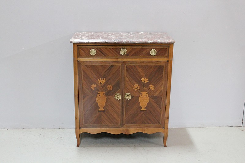 Small buffet inlaid - XIXth