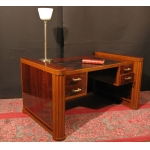 BUREAU PLAT ART DÉCO 1930 -1940 en palissandre et teck design 4 tiroirs  71/5000 OFFICE FLAT ART DECO 1930 -1940 rosewood and teak design 4 drawers
