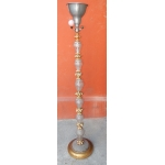 1950 'Floor Lamp Golden Wood And Crystal
