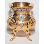 GILT BRONZE AND ENAMEL CUP