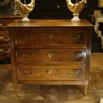Small Louis XVI Commode In Walnut
