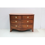 English chest of drawers with curved front - XIXth