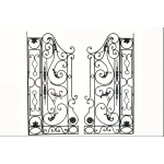 Pair of wrought iron gates Grilles