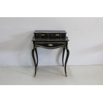 Rare small office of lady Louis XV blackened wood - Napoleon III period