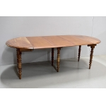 Small oval table with 3 extensions - XIXth