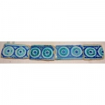 Very large Stripe Frieze Of 4 Tiles Iznik Circa XVI Eme century 48 Cms Turkey Syria 16 ° Ottoman