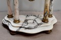Marble and bronze fireplace set - XIXth