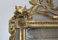 Mirror Louis XVI pediment - XIX