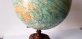 Antique World globe J. Forest Paris 1910