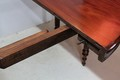 Pedestal table with extensions - XIXth